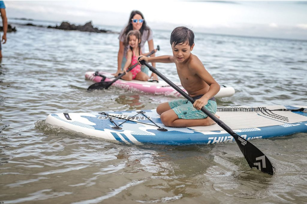 Children Paddle Boarding