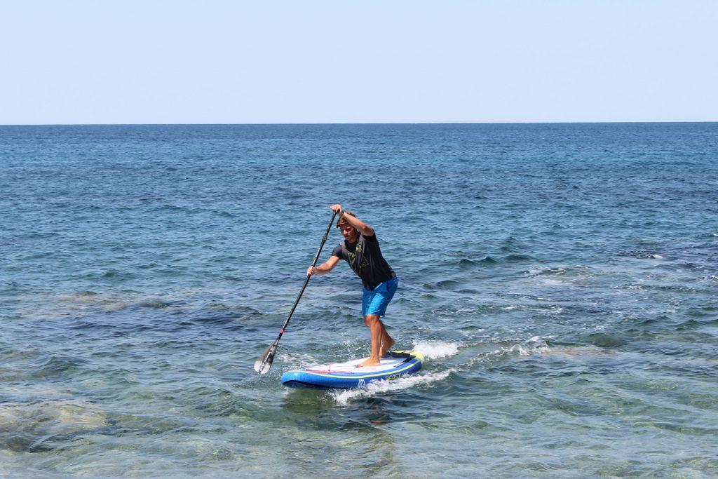 Aqua Marina Beast Review Man Paddling Ocean