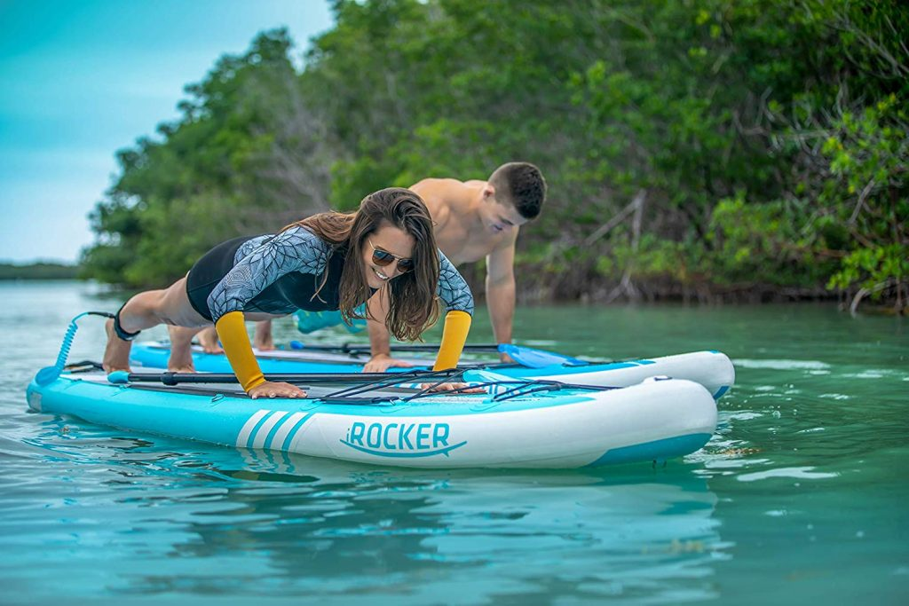 iRocker-Cruiser-Action-Yoga Stand Up Paddle Workouts