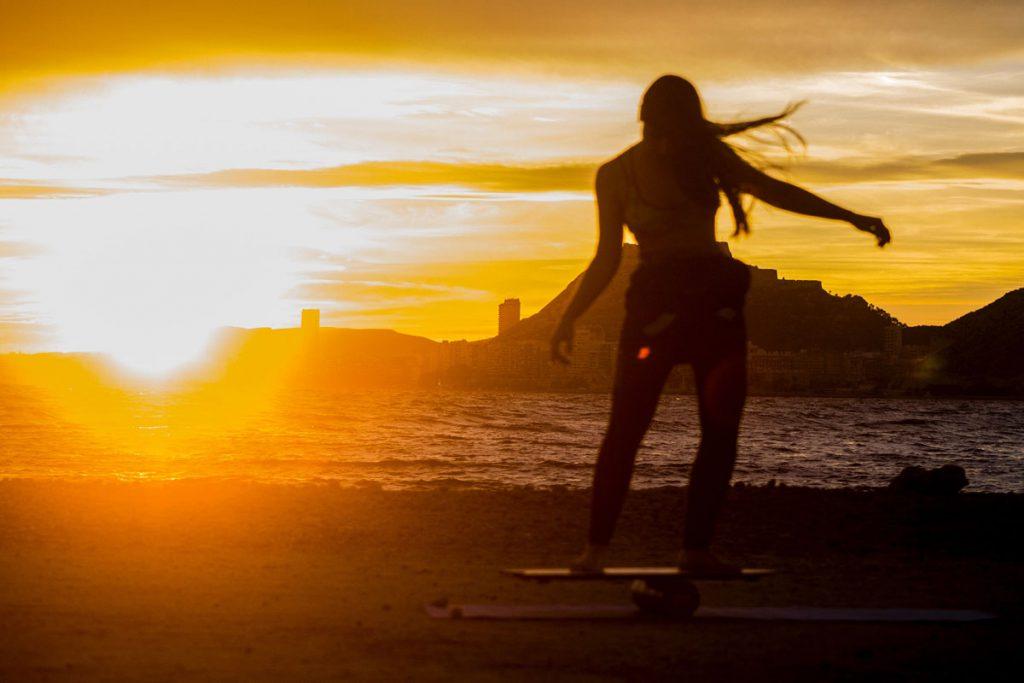 Balance-Board-Sonnenuntergang