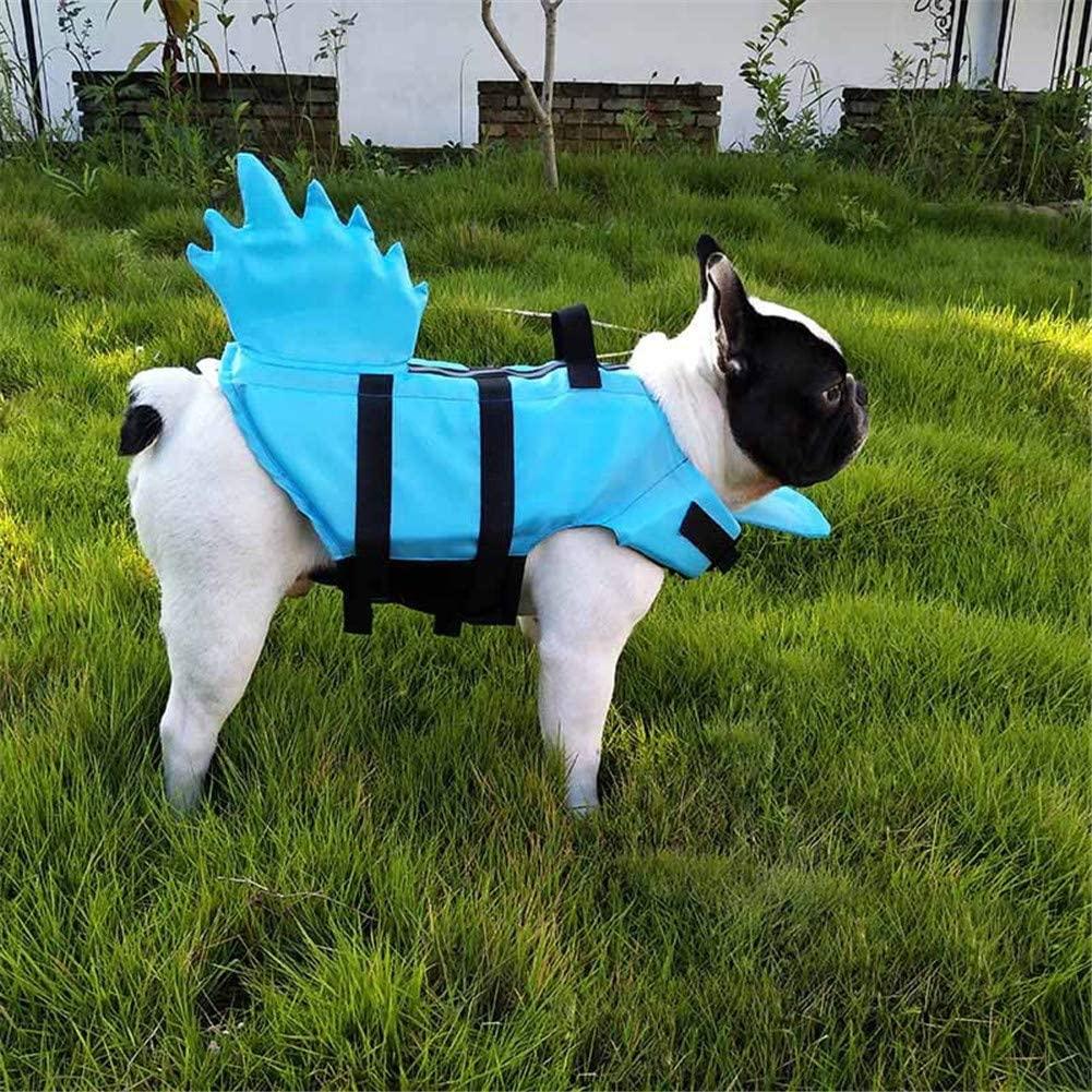 Hondenzwemvest-Blauw-Dino