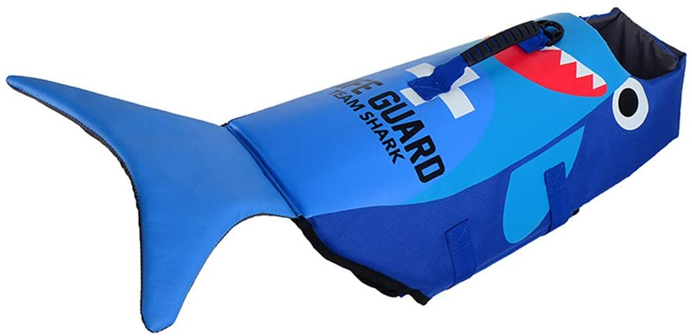 Hondenzwemvest-Haai-Blauw