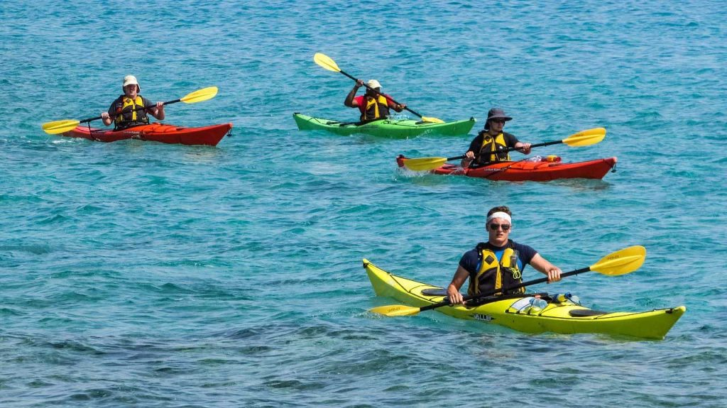 kayaking-group