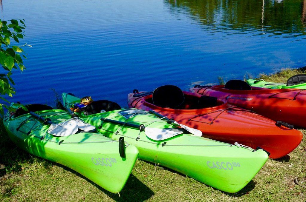 Kayaks-on-shore
