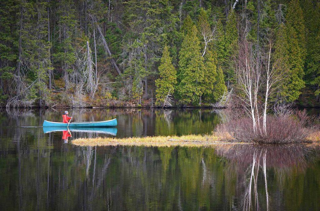Kanu-Paddeln-Natur