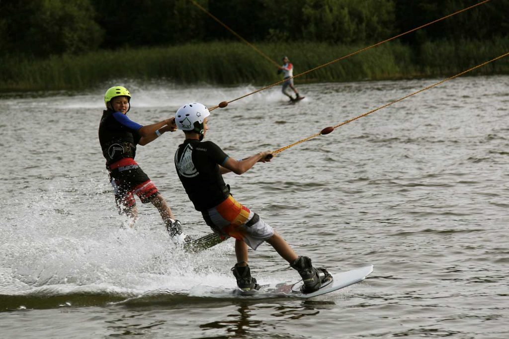 Waterskiën-jongens