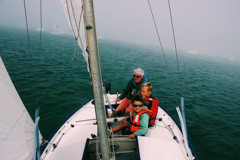 Kids on Yacht Wearing Life Jacket