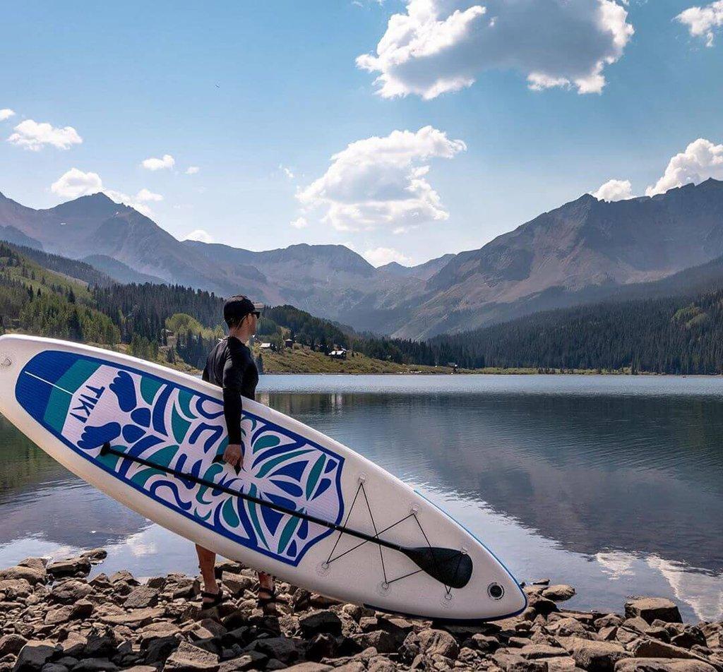Mejor tabla de paddle surf de yoga FunWater-Tiki-Acción-Playa
