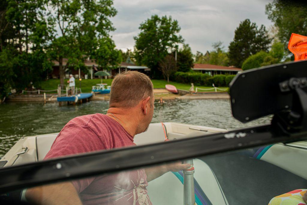 wakeboarding gears boat